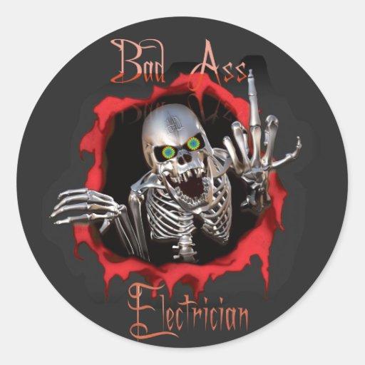 bad as  electrician skull sticker