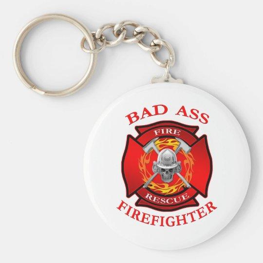Bad Ass Firefighter Keychain