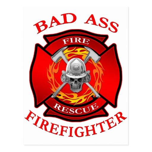 Bad Ass Firefighter Post Cards