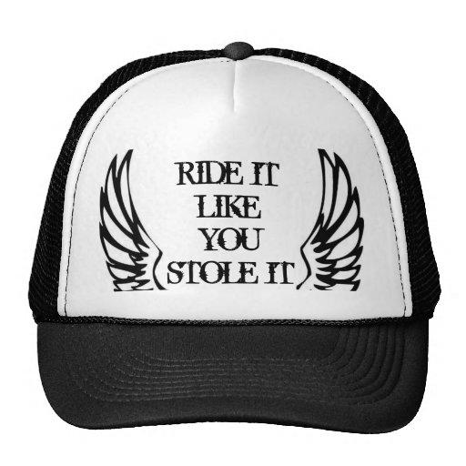 BAD ASS MOTORCYCLE WINGS TRUCKER HAT