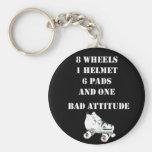 Bad Attitude Basic Round Button Keychain