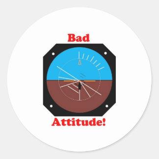 Bad Attitude Classic Round Sticker