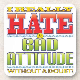 Bad Attitude Hate Face Beverage Coasters