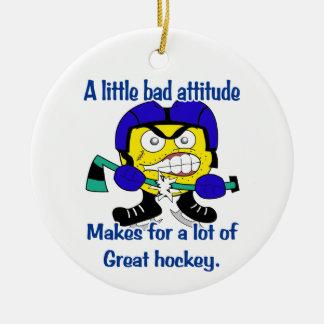 Bad Attitude Hockey Tree Ornament