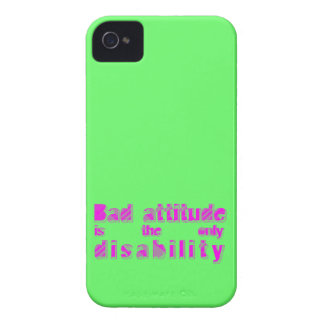 bad attitude is the only disability iPhone 4 cover