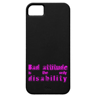 bad attitude is the only disability iPhone SE/5/5s case