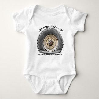 Bad Attitude Like Flat Tire Baby Bodysuit