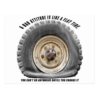 Bad Attitude Like Flat Tire Post Cards