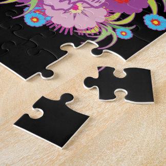 Bad Attitude Pink Skull Jigsaw Puzzle