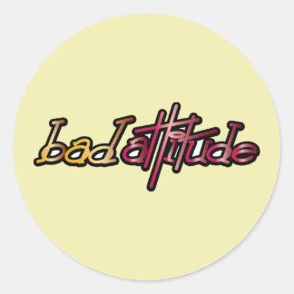 Bad Attitude - Pop Fashion Slogan Icon Stickers