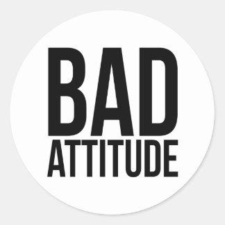 Bad Attitude Round Sticker