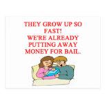 bad baby joke post cards