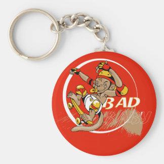 Bad Baby Skateboard Monkey Keychain