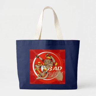 Bad Baby Skateboard Monkey Large Tote Bag
