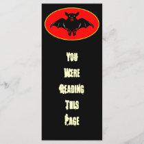 Bad Bat Bookmark Template