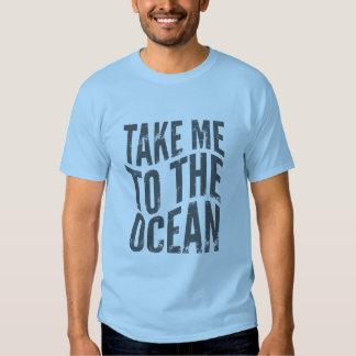 Bad Beach Take Me to the Ocean Mens Light Blue T-shirt