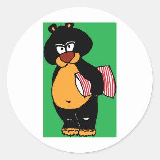Bad Bear.jpg Classic Round Sticker