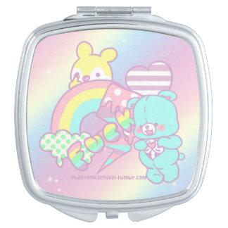 Bad Bear Square Compact Mirror