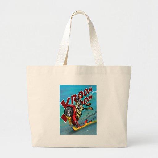 Bad Biker Bunny Jumbo Tote Bag