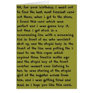 Bad Birthday Card