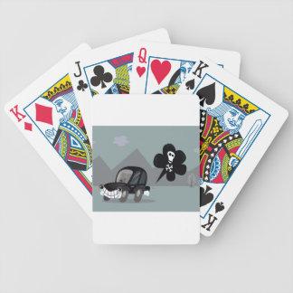 BAD BLACK CAR SIMPLE KIDS ART ILLUSTRATION BICYCLE PLAYING CARDS