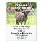 "Bad Black Sheep 4.25"" X 5.5"" Invitation Card"