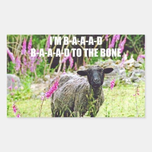 Bad Black Sheep Rectangular Stickers