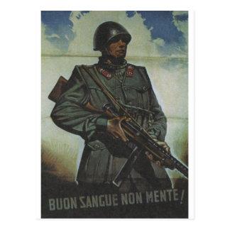 Bad blood Propaganda Poster Postcard
