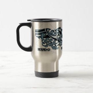 Bad Bones Burnt Winged Skull  (Blue) Coffee Mugs