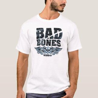 Bad Bones Burnt Winged Skull Skateboard (Blue) T-Shirt