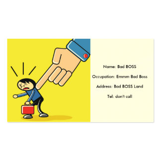 Bad Boss :), check the hall collection :) Double-Sided Standard Business Cards (Pack Of 100)