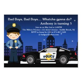 Bad Boys, Bad Boys in the City Birthday Invitation