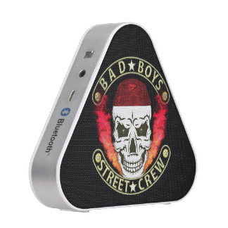 Bad Boys Street Crew Bandana Skull Black & Gold Bluetooth Speaker