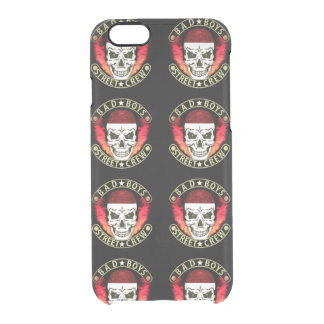 Bad Boys Street Crew Bandana Skull Black & Gold Clear iPhone 6/6S Case