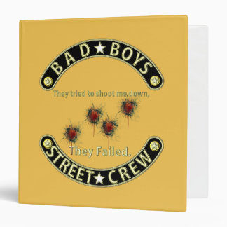 Bad Boys They failed Black & Gold 3 Ring Binders