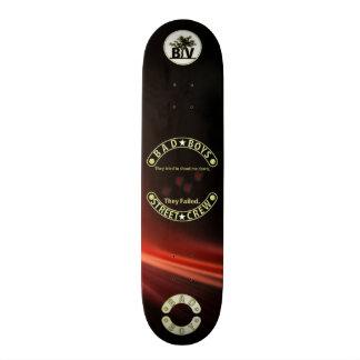 Bad Boys They failed Black & Gold Skateboard Deck