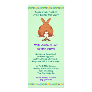 Bad Bunny Easter Party Invites