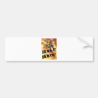 Bad Bunny in Flame Bumper Sticker