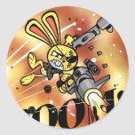 Bad Bunny in Flame Classic Round Sticker