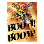 Bad Bunny in Flame Postcard