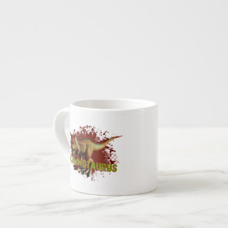 Bad Carnotaurus Splashing Blood Green and Red Espresso Cup