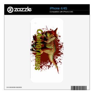 Bad Carnotaurus Splashing Blood Green and Red iPhone 4S Skins