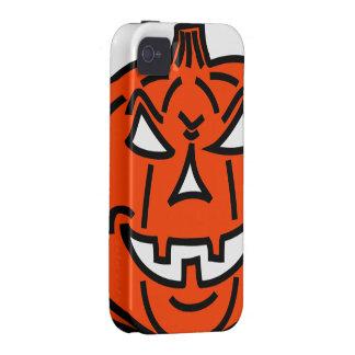 Bad cartoon pumpkin Case-Mate iPhone 4 case
