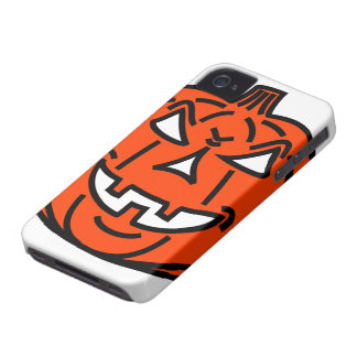 Bad cartoon pumpkin Case-Mate iPhone 4 case