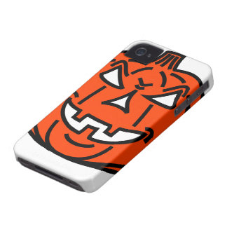Bad cartoon pumpkin iPhone 4 Case-Mate case