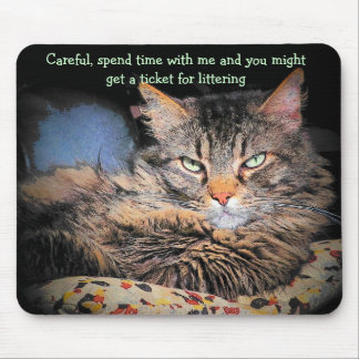 Bad Cat pick up lines #3 Mouse Pad