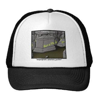 Bad Cemetary Grafitti Funny Trucker Hat