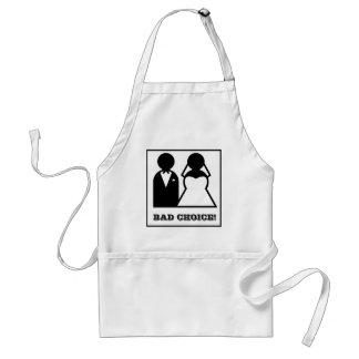 Bad choice adult apron