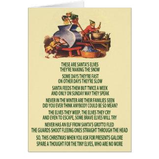 Bad Christmas elves Greeting Card