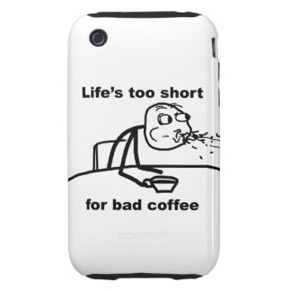 Bad Coffee Tough iPhone 3 Cases